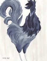 Green & Purple Rooster I Fine-Art Print