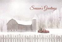 Season's Greetings with Truck Fine-Art Print