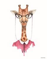 Giraffe in Glasses Fine-Art Print