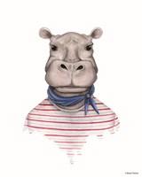 Hippo in Handkerchief Fine-Art Print