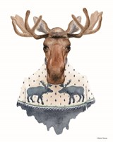 Moose in a Moose Sweater Fine-Art Print