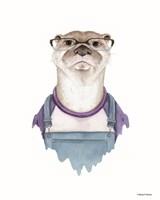 Otter in Overalls Fine-Art Print