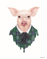 Pig in Plaid Fine-Art Print