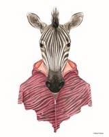 Zebra in a Zipup Fine-Art Print