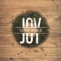 Joy to the World with Wreath Fine-Art Print
