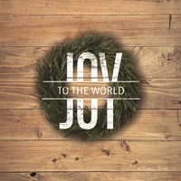 Joy to the World with Wreath Fine-Art Print