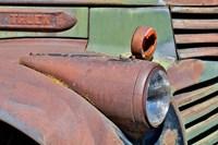 Headlight On Old Truck Detail In Sprague, Washington State Fine-Art Print