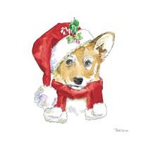 Holiday Paws VIII on White Fine-Art Print