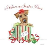 Holiday Paws II on White Fine-Art Print