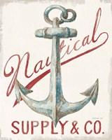 Floursack Nautical V Red Fine-Art Print