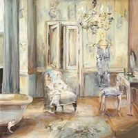 Boudoir Bath II Gray Fine-Art Print