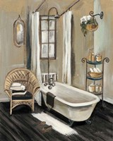 French Bath II Black v2 Fine-Art Print