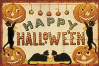 Halloween Nostalgia Happy Halloween Fine-Art Print