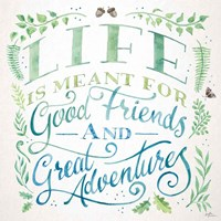 Good Friends and Great Adventures I Fine-Art Print