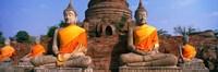 Buddha Statues Near Bangkok Thailand Fine-Art Print