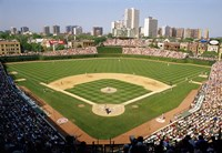 High Angle View Of A Stadium, Wrigley Field, Chicago, Illinois Fine-Art Print