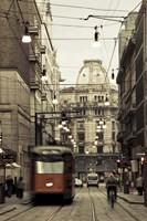 Tram On A Street, Piazza Del Duomo, Milan, Italy Fine-Art Print