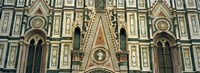 Low Angle View Of Details Of A Cathedral, Duomo Santa Maria Del Fiore, Florence, Italy Fine-Art Print