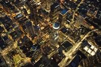 City Lit Up At Night, Los Angeles, California Fine-Art Print