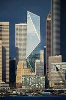 Modern Architecture In City, Seattle, Washington Fine-Art Print