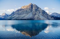 Mountain Reflecting In Lake At Banff National Park, Alberta, Canada Fine-Art Print