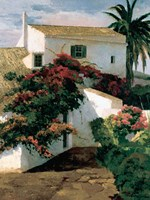 Courtyard Blossoms Fine-Art Print
