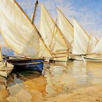 White Sails I Fine-Art Print