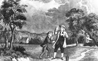 June 1752 Benjamin Franklin Out Flying His Kite In Thunderstorm As An Experiment In Electricity And Lightning Fine-Art Print