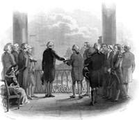 1789 Inauguration Of George Washington As First President Of The USA Fine-Art Print