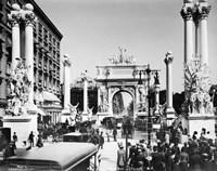 Triumphal Plaster Arch Columns Celebrate Commodore Dewey Manila Victory Spanish American War Madison Square Park NY Fine-Art Print
