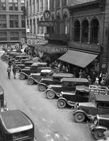 1936 Line Of Angle Parked Cars Downtown Main Street Knoxville Tennessee Fine-Art Print