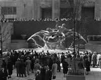 Group Of People At Rockefeller Center New York City Fine-Art Print