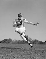 Football Player Running With Ball Fine-Art Print