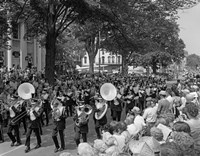 Fourth Of July Main Street Parade With Marching Band Fine-Art Print
