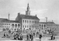 Engraving Of Independence Hall In Philadelphia 1776 Fine-Art Print