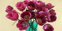 Red Tulips in a Glass Vase (detail) Fine-Art Print
