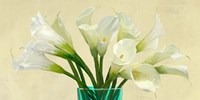 White Callas in a Glass Vase (detail) Fine-Art Print