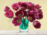 Red Tulips in a Glass Vase Fine-Art Print
