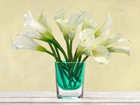 White Callas in a Glass Vase Fine-Art Print