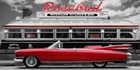 Vintage Beauty and Diner (Red) Fine-Art Print