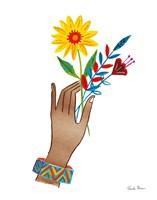 Floral Hand IV No Design Tan Fine-Art Print