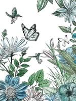Butterflies and Flowers IV Fine-Art Print
