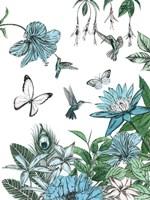 Butterflies and Flowers III Fine-Art Print