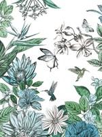 Butterflies and Flowers II Fine-Art Print