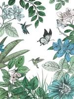 Butterflies and Flowers I Fine-Art Print