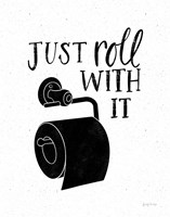 Bathroom Puns V Black Fine-Art Print