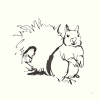 Line Squirrel Fine-Art Print