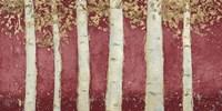 Magnificent Birch Grove Burgundy Crop Fine-Art Print
