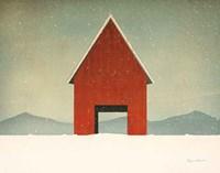 Red Barn Winter Fine-Art Print
