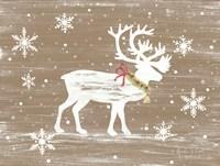 Snowy Reindeer Fine-Art Print